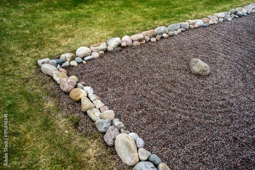Foto op Aluminium Stenen in het Zand Feng Shui garden zen stones