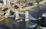 aerial view of Tower Bridge in London city - 195648713