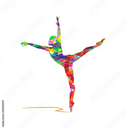 Vector illustration of Ballerina silhouette