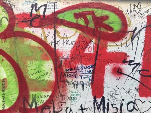 Foto op Plexiglas Graffiti Colorful Graffiti Wall