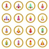 Rockets Icons Circle Wall Sticker