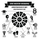 Sport Inventory Infographic Concept Simple Style Wall Sticker