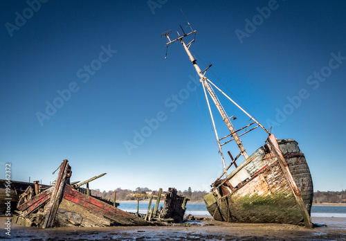 Foto op Aluminium Schipbreuk Boat and shipwrecks