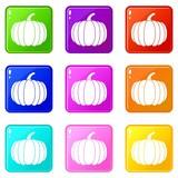 Pumpkin icons 9 set - 195663705