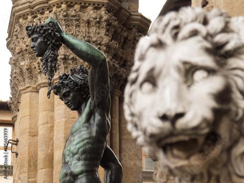 Foto op Plexiglas Florence Italia, Toscana, Firenze,il Perseo del Cellini,nella loggia dei Lanzi.