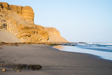 Cliffs by the sea on the coast of Chicama, Peru - 195665968