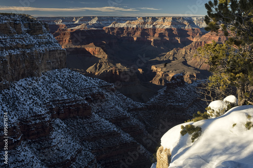 Foto op Canvas Zwart Grand Canyon at sunset; Arizona