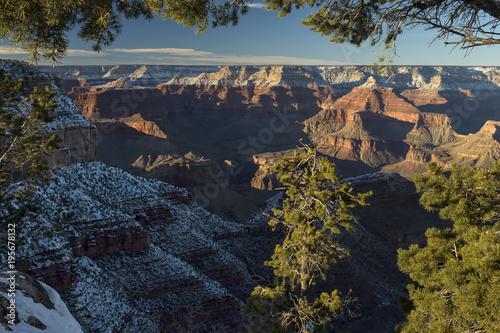 Deurstickers Grijze traf. Grand Canyon at sunset; Arizona