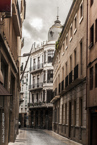 Street view,city center,Murcia,Spain. © joan_bautista