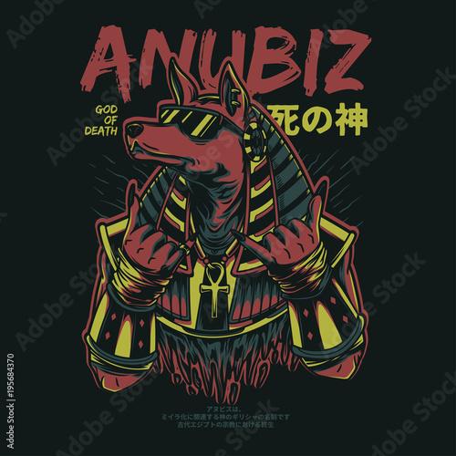 Plexiglas Graffiti Anubiz