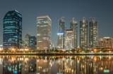 cityscape of night - 195693124