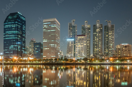 Fotobehang Bangkok cityscape of night