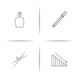 Education And Science simple linear icon set.Simple outline icons - 195694542