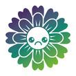 flower kawaii cartoon cute petals vector illustration gradient color design