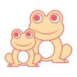 frogs cute animal sitting cartoon vector illustration