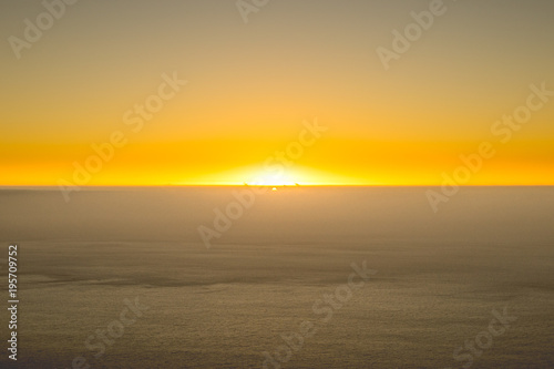 Fotobehang Oranje Sunset view from Lion Head, Cape Town, South Africa