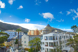 Mass of cloud cover mountain behind lion head, Cape Town , South Africa - 195709902