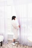 window light woman