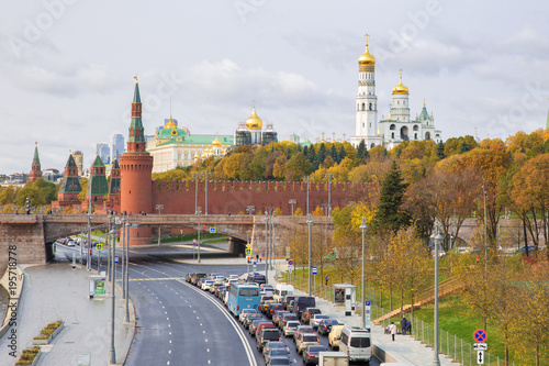 Aluminium Moskou Kremlin, Embankment of Moscow River in Moscow, Russia