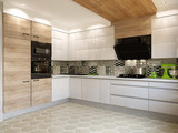 White kitchen contemporary style, 3d images - 195720963