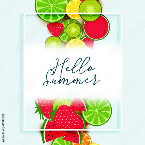 letnie owoce tło wektor wzór