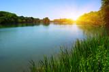 Lake water and sun - 195731959