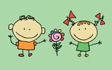 Cute cartoon children. T-shirt graphic. cartoon character. vector - 195741500
