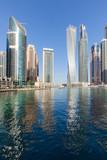 Dubai Marina skyline at beautiful morning