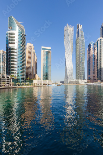 Foto op Aluminium Dubai Dubai Marina skyline at beautiful morning