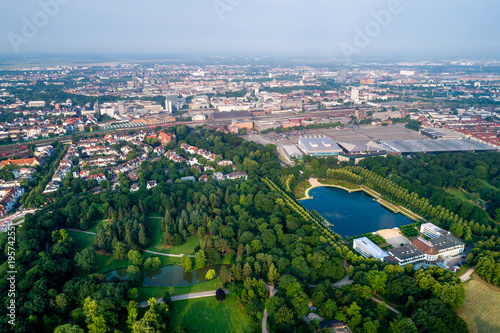 Poster City Municipality of Bremen Aerial FPV drone footage. Bremen is a major cultural and economic hub in the northern regions of Germany.