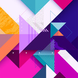 Abstract colorful geometric composition - 195743982