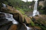 Der Ramboda Wasserfall bei Kandy in Sri Lanka