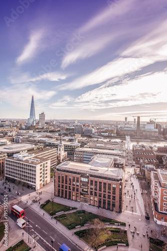 Deurstickers Londen London Skyline, aerial view