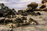 Dreamy, long exposure, rocky seascape - 195751946