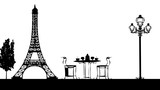 tour eiffel romantique - 195752775