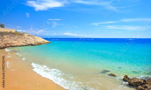 Plaża w tropikalnym kurorcie