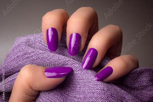 Canvas Manicure purple nails manicure