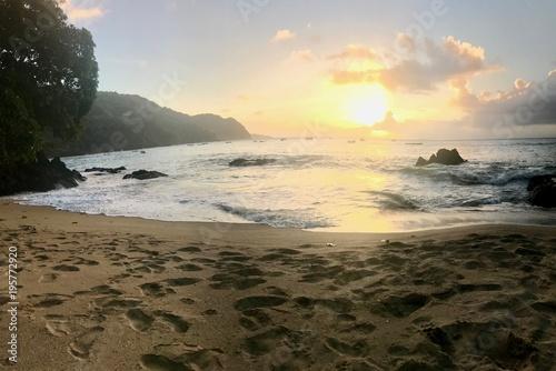 Aluminium Strand Sunset in Tobago - Caribbean
