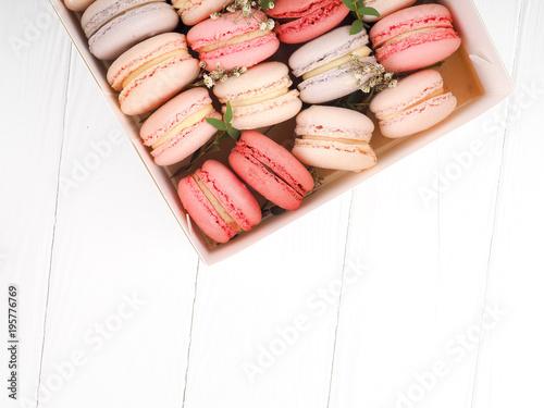 Plexiglas Macarons Macarons pattern on white background