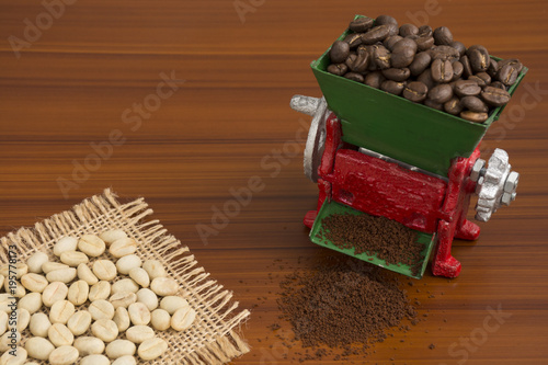 Papiers peints Café en grains Colombian coffee, traditional drink