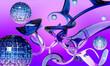 3d rendering background abstract glass figures curls pastel tones art design