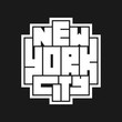 New York City Typography poster. Concept for print production. T-shirt fashion Design.