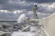 Eiszeit am Sassnitzer Leuchtturm