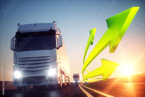 Zielony transport do przodu
