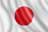 Japan flag, Realistic illustration