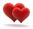 hearts 3d illustration