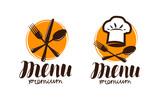 Restaurant menu, logo or label. Cooking, cuisine concept. Vector illustration - 195786964