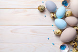 Easter Background with Easter Eggs - 195787721