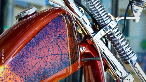 Plexiglas Route 66 Classic Motorcycle