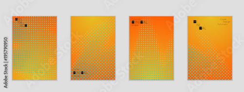 Fototapeta Geometric halftone gradient texture cover banner template